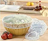Set of 24 Reusable Elastic Bowl, Dish & Plate Covers - 3 Sizes
