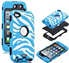Oksobuy® Deluxe Zebra Grain Hard Soft High Impact Silicon Case Cover Combo for Apple Ipod Touch4