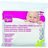 Tigex 80600712 - Pack de 3 gasas, color blanco