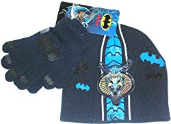 Batman Beanie and Glove Set Navy