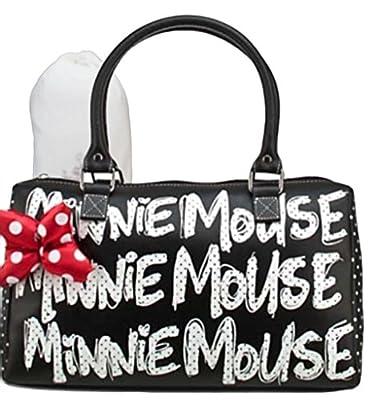 Disney Parks Minnie Mouse Black Polka Dot Barrel Purse
