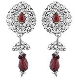 Ganapathy gems Maroon Metal Dangle & Drop Earring for Women (4170)