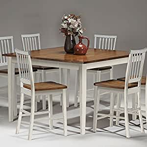 arlington counter height dining table white