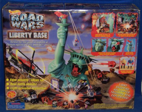 Hot Wheels Road Wars Liberty Base Electronic Playset