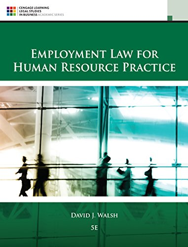 Download Employment Law for Human Resource Practice