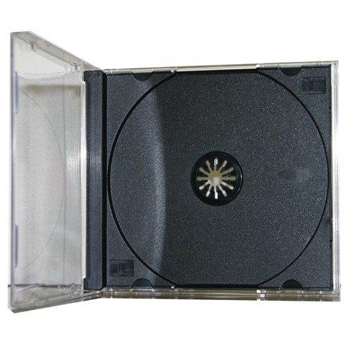 Mediaxpo Brand 200 STANDARD Black CD Jewel Case (Assembled)