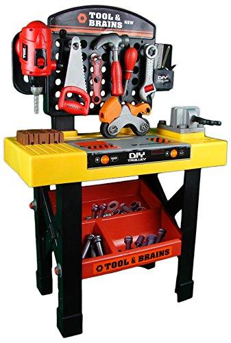 Kinderwerkbank-mit-viel-Zubehr-Werkzeug