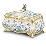 Lena Liu Hummingbird Art Heirloom Porcelain Music Box with 22K Gold Sentiment by The Bradford Exchange