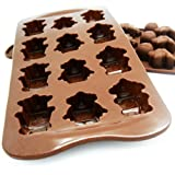 kilofly Non-Stick Silicone Chocolate Mold Tray Pack [Set of 2], Robot & Dinosaur