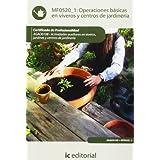 Operaciones básicas en viveros y centros de jardinería. agao0108 - actividades auxiliares en viveros, jardines...