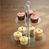 TWO TIER LAZY SUSAN CAKE STAND