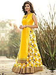 Bhavya Enterprise Yellow Net Lehenga