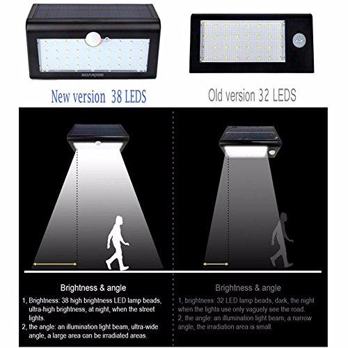 sidardoe solar powered motion sensor light with 38 led solar lights wireless waterproof led security lights with - Led Motion Sensor Light