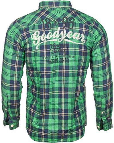 Goodyear camicia uomo Los Angeles Men Slim - Green, nuovo multicolore S