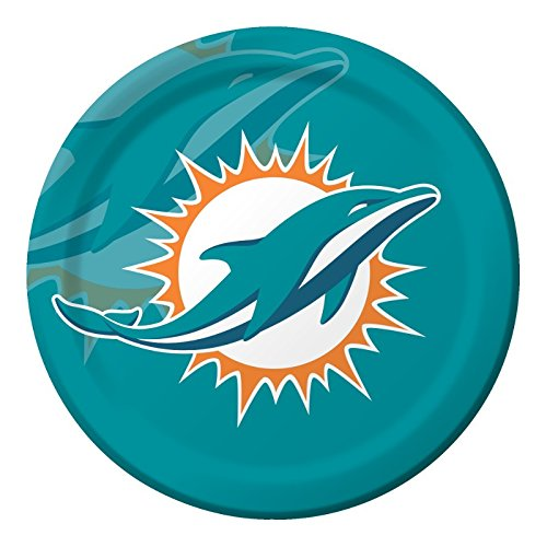 Creative Converting 8 Count Miami Dolphins Paper Dinner Plates