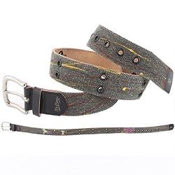 Ed Hardy EH3335 Womens Flutter Canvas Belt - Black/Small