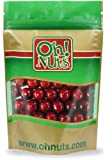 Red Gumballs - Black Cherry 1 Inch 1 Pound Bag - Oh! Nuts