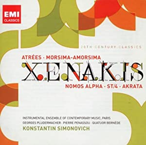 Xenakis: Atrées / Morsima-Amorsima / Nomos Alpha / ST-4 / Akrata