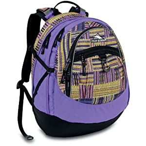 High Sierra Fat Boy Backpack, Purple Print, 19.5x13x7-Inch