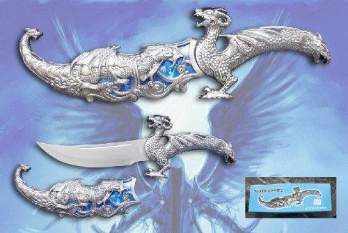 "12"" Fantasy Dragon Dagger With Gift Box (Blue Fitting)"
