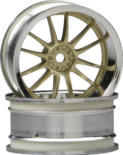 HPI Racing 3299 Work XSA 02C Wheel, 26mm, Gold and Chrome - 1