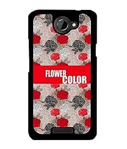 Fuson 2D Printed Color Flower Designer back case cover for HTC One X - D4237