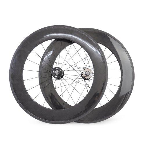 baixiang-88-mm-Drahtreifen-Carbon-Track-Bike-Laufradsatz-Fixed-Gear-Single-Speed-Fahrrad-Rollen-Hochglanz-Finish