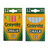 Crayola Non-Toxic White Chalk and Colored Chalk Bundle (51-0320/CPK1)