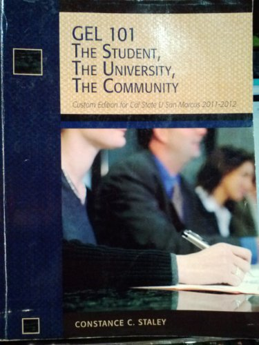 The Student, The University, The Community (GEL: 101 The Student, The University, The Community (CSUSM), 2011-2012)