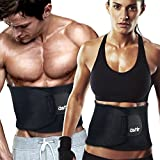 "Astir Waist Trimmer Ab Belt For Women & Men•Extra Long (44""), Extra Wide (9""), & Extra Flexible Sweat Belt with Maximum Abdominal Coverage•Non-Slip Surface for Max Waist Slimming•Lifetime Guarantee"
