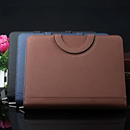 leather padfolio with calculator high grade Manager folder leather folder a4 Office School Supplies Notebooks Writing
