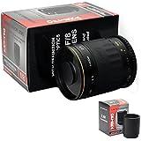 Opteka 500-1000mm f/8 High Definition Telephoto Mirror Lens for Canon EOS 1D, 5D, 6D, 7D, 10D, 20D, 30D, 40D, 50D, 60D, Rebel XT, XTi, XS, XSi, T1i, T2i, T3, T3i and T4i Digital SLR Cameras