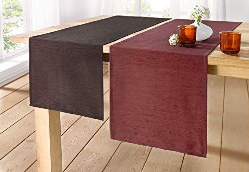 Frank runner da tavolo classico poliestere 100 tessuto grezzo e cangiante 40 x 150 cm 40 x - Runner da tavolo ...