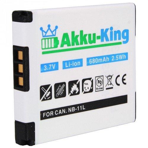 Akku-King Li-Ion Akku für Canon PowerShot A2200/A4000/IXUS 125HS/240HS/IXY 420F/220F (680mAh)
