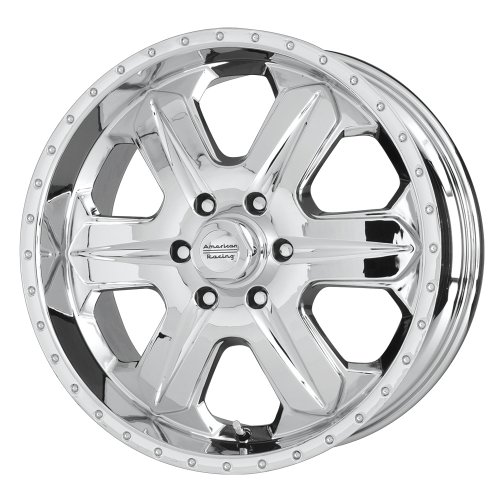 American Racing Fuel (Series AR619) Chrome - 16 X 8 Inch Wheel