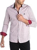 SIR RAYMOND TAILOR Camisa Hombre (Rojo / Blanco)