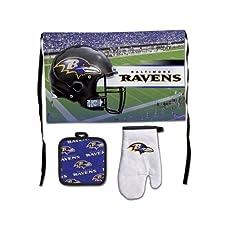 Baltimore Ravens NFL Premium 3-Piece Barbeque Tailgate Set