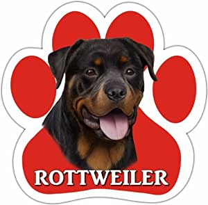 Amazon.com : Rottweiler Car Magnet With Unique Paw Shaped