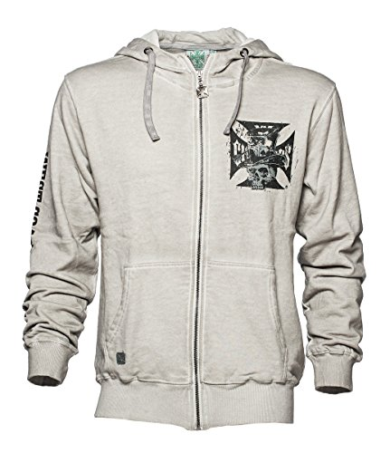 West Coast Choppers Zip Hoody Cash Only Vintage High Neck, Color:Vintage;Größe:M
