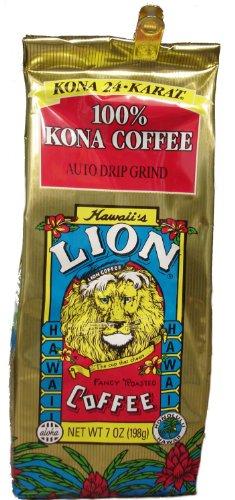 Lion Hawaiian Kona Coffee 100% Pure Kona 7 Oz. Ground Or Whole Bean