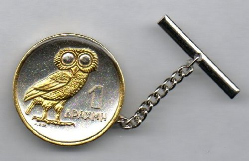 Gorgeous 2-Toned Gold on Silver World Coin Tie-Tack-158ATT