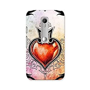 ArtzFolio Tattoo Art Tribal With Red Heart : Motorola Moto G3 Matte Polycarbonate ORIGINAL BRANDED Mobile Cell Phone Protective BACK CASE COVER Protector : BEST DESIGNER Hard Shockproof Scratch-Proof Accessories