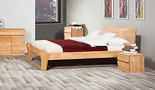 Einzel-/Doppelbett 'Lazy' – in Buche und Eiche (Buche geölt, 140 x 200) kaufen