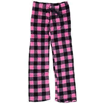 Totally Pink Brand Pink Plaid Plush Pajama Pants for Juniors XL