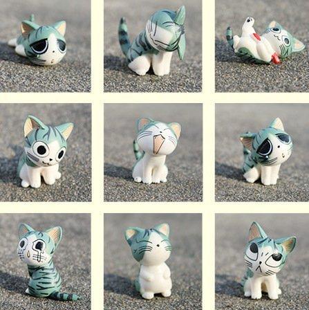Cartoon Chi's Sweet Home Cute Cat Figures Animal 9 PCs