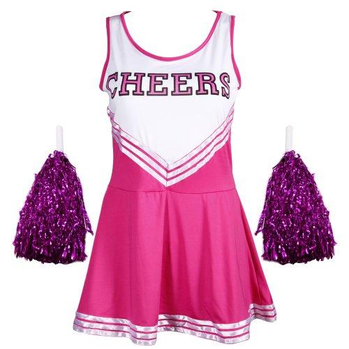 Sexy Cheerleader Uniform Kleid Trikot Dress Cheerleading Cheer Leader kostüm Fasching Karneval GOGO Klein bis Übergroß