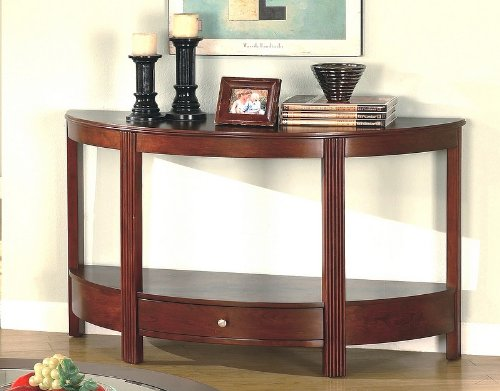 Cheap Contemporary Cherry Finish Storage Sofa / Console Table (VF_AZ00-28259×29287)