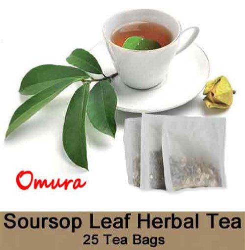 Soursop Leaf All Natural Herbal Tea (Pack Of 25)