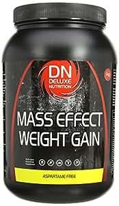 Deluxe Nutrition Mass Effect Weight Gainer Banana Whey Protein Casein Glutamine 1kg