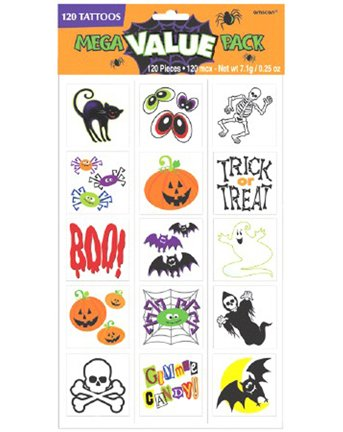 Halloween Tattoo Value Pack 120ct - 1
